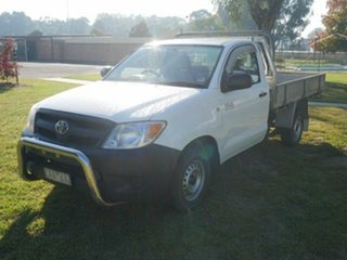2006 Toyota Hilux TGN16R Workmate Glacier White 5 Speed Manual Cab Chassis