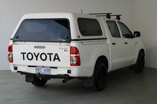 2011 Toyota Hilux KUN16R MY12 SR Double Cab 4x2 White 5 Speed Manual Utility