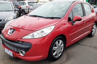 2007 Peugeot 207 A7 XE Red 4 Speed Sports Automatic Hatchback.
