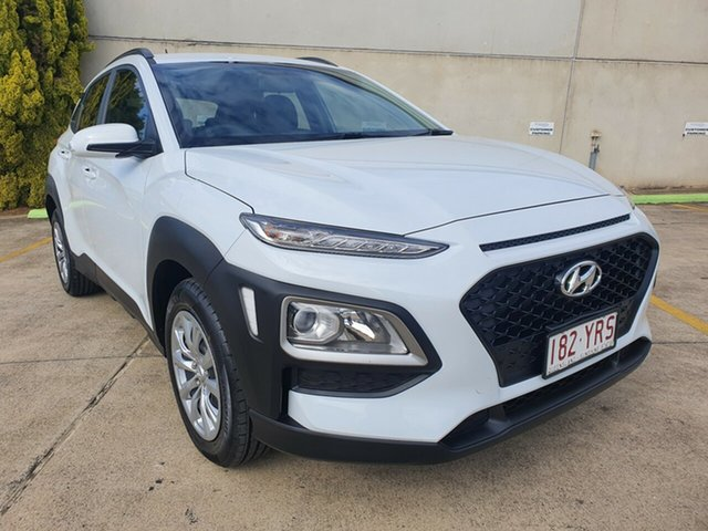 Used Hyundai Kona OS.2 MY19 Go 2WD Toowoomba, 2018 Hyundai Kona OS.2 MY19 Go 2WD White 6 Speed Sports Automatic Wagon