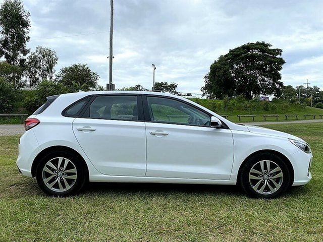 Used Hyundai i30 PD MY18 Active Mount Gravatt, 2017 Hyundai i30 PD MY18 Active Polar White 6 Speed Sports Automatic Hatchback
