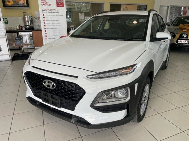 Used Hyundai Kona OS.3 MY20 Go 2WD Springwood, 2019 Hyundai Kona OS.3 MY20 Go 2WD Chalk White 6 Speed Sports Automatic Wagon