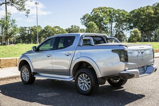 2018 Mitsubishi Triton MQ MY18 GLS Double Cab Silver 6 Speed Manual Utility