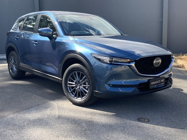 Demo Mazda CX-5 KF4WLA Touring SKYACTIV-Drive i-ACTIV AWD Hindmarsh, 2021 Mazda CX-5 KF4WLA Touring SKYACTIV-Drive i-ACTIV AWD Eternal Blue 6 Speed Sports Automatic