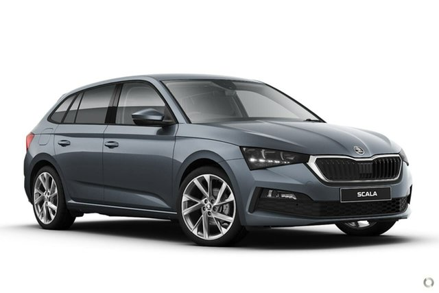 New Skoda Scala NW MY21 110TSI DSG Seaford, 2020 Skoda Scala NW MY21 110TSI DSG Grey 7 Speed Sports Automatic Dual Clutch Hatchback