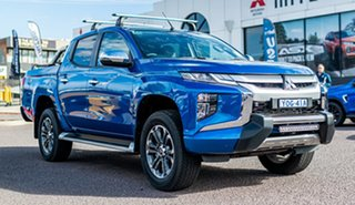 2020 Mitsubishi Triton MR MY20 GLS Double Cab Impulse Blue 6 Speed Sports Automatic Utility.