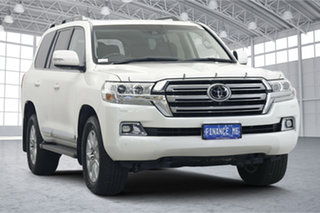 2018 Toyota Landcruiser VDJ200R Sahara Pearl White 6 Speed Sports Automatic Wagon.