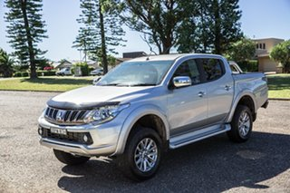 2018 Mitsubishi Triton MQ MY18 GLS Double Cab Silver 6 Speed Manual Utility.