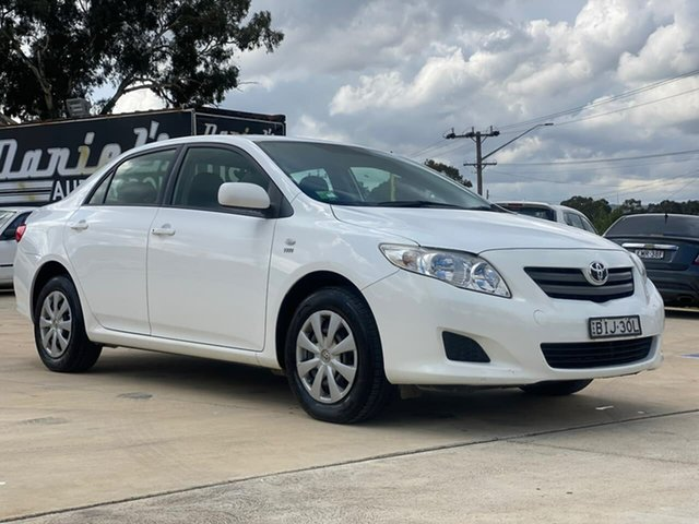 Used Toyota Corolla ZRE152R Ascent Goulburn, 2008 Toyota Corolla ZRE152R Ascent White 6 Speed Manual Sedan