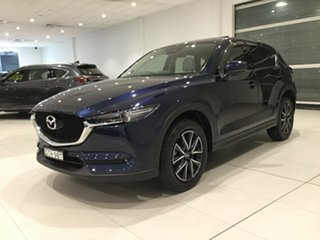 2017 Mazda CX-5 KF4WLA GT SKYACTIV-Drive i-ACTIV AWD Deep Crystal Blue/kf 6 Speed Sports Automatic