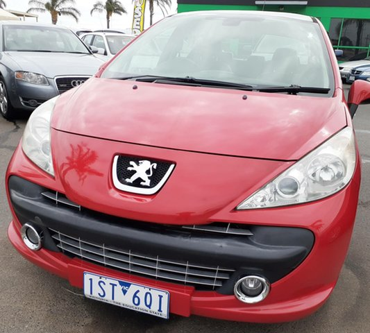 Used Peugeot 207 A7 XE Cheltenham, 2007 Peugeot 207 A7 XE Red 4 Speed Sports Automatic Hatchback