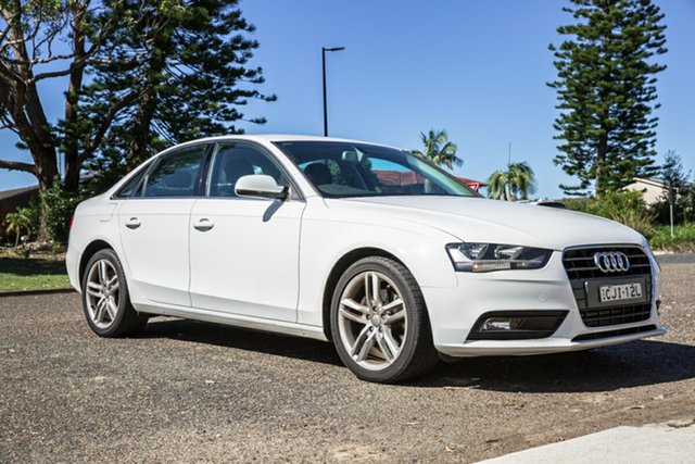 Used Audi A4 B8 8K MY12 Multitronic Port Macquarie, 2012 Audi A4 B8 8K MY12 Multitronic White 8 Speed Constant Variable Sedan