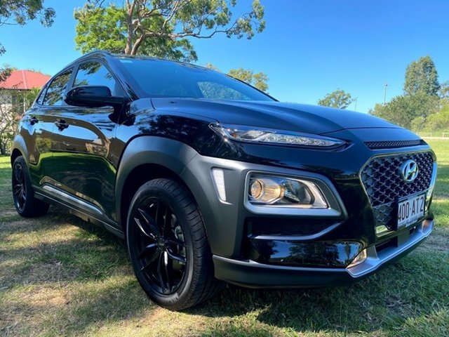 Demo Hyundai Kona OS.3 MY20 Elite 2WD Mount Gravatt, 2020 Hyundai Kona OS.3 MY20 Elite 2WD Phantom Black 6 Speed Sports Automatic Wagon