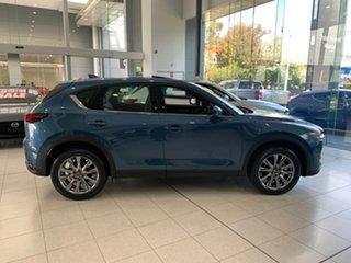 2021 Mazda CX-5 KF4WLA Akera SKYACTIV-Drive i-ACTIV AWD Eternal Blue 6 Speed Sports Automatic Wagon.