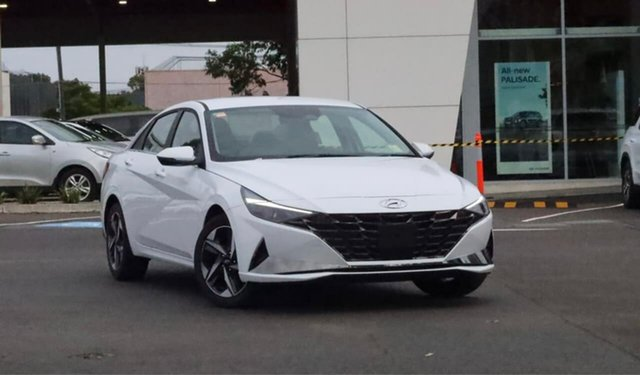 New Hyundai i30 CN7.V1 MY21 Elite South Melbourne, 2021 Hyundai i30 CN7.V1 MY21 Elite Polar White 6 Speed Auto Sequential Sedan
