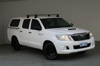 2011 Toyota Hilux KUN16R MY12 SR Double Cab 4x2 White 5 Speed Manual Utility.