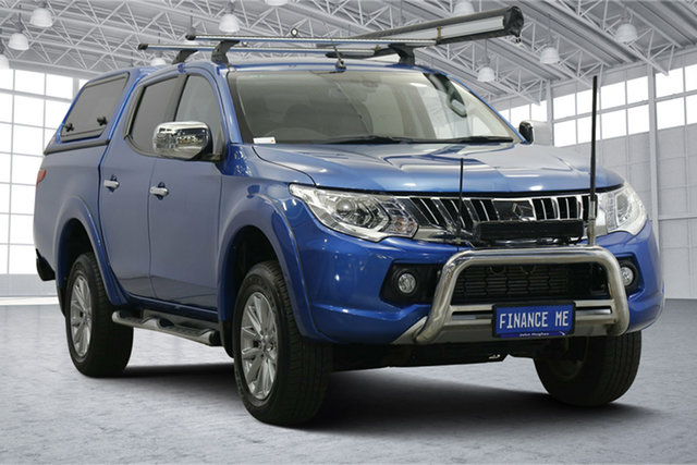 Used Mitsubishi Triton MQ MY16 Exceed Double Cab Victoria Park, 2015 Mitsubishi Triton MQ MY16 Exceed Double Cab Blue 5 Speed Sports Automatic Utility
