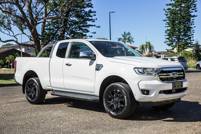Used Ford Ranger PX MkIII 2019.00MY XLT Port Macquarie, 2019 Ford Ranger PX MkIII 2019.00MY XLT White 10 Speed Sports Automatic Super Cab Pick Up