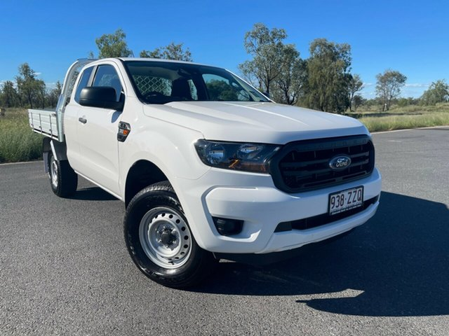 Used Ford Ranger PX MkIII 2021.25MY XL Emerald, 2020 Ford Ranger PX MkIII 2021.25MY XL White 6 Speed Sports Automatic Super Cab Chassis
