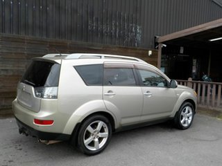 2007 Mitsubishi Outlander ZG MY07 XLS Beige 6 Speed Constant Variable Wagon.