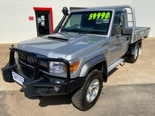 2015 Toyota Landcruiser VDJ79R GXL Silver Pearl 5 Speed Manual Cab Chassis.