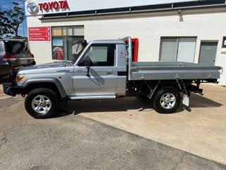 2015 Toyota Landcruiser VDJ79R GXL Silver Pearl 5 Speed Manual Cab Chassis