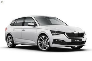 2020 Skoda Scala NW MY21 110TSI DSG White 7 Speed Sports Automatic Dual Clutch Hatchback