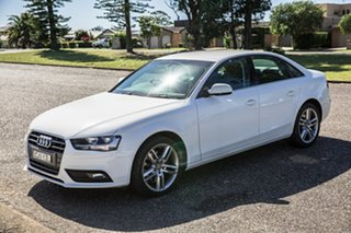 2012 Audi A4 B8 8K MY12 Multitronic White 8 Speed Constant Variable Sedan.