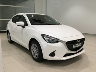 2016 Mazda 2 DL2SAA Neo SKYACTIV-Drive Snowflake White 6 Speed Sports Automatic Sedan.