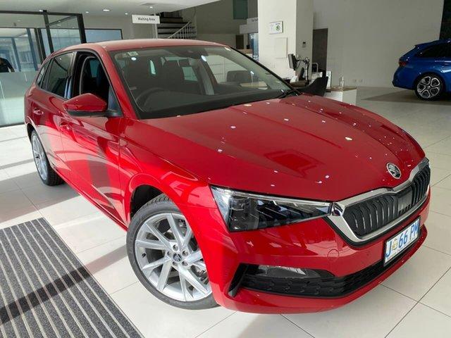 Demo Skoda Scala NW MY21 110TSI DSG Hobart, 2020 Skoda Scala NW MY21 110TSI DSG Red 7 Speed Sports Automatic Dual Clutch Hatchback