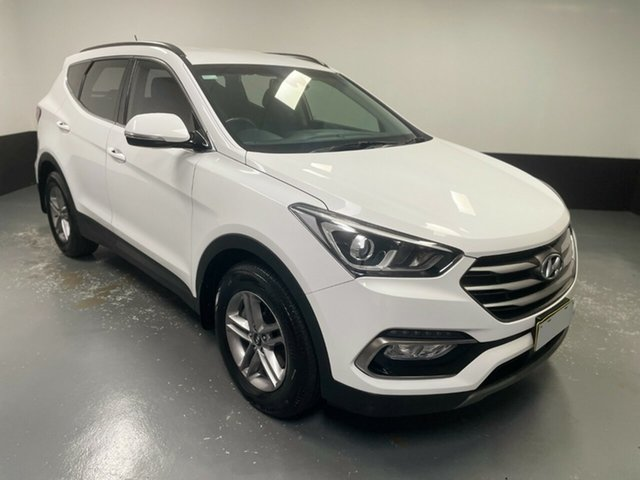 Used Hyundai Santa Fe DM5 MY18 Active Rutherford, 2018 Hyundai Santa Fe DM5 MY18 Active White 6 Speed Sports Automatic Wagon