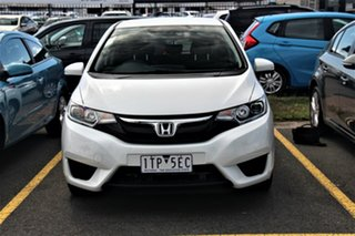 2015 Honda Jazz GF MY15 VTi White 5 Speed Manual Hatchback.