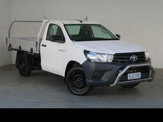 2016 Toyota Hilux TGN121R Workmate Glacier White 5 Speed Manual Cab Chassis.