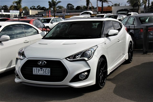 Used Hyundai Veloster FS4 Series II SR Coupe D-CT Turbo Cheltenham, 2015 Hyundai Veloster FS4 Series II SR Coupe D-CT Turbo White 7 Speed Sports Automatic Dual Clutch