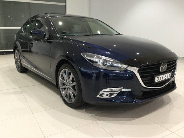 Used Mazda 3 BN5238 SP25 SKYACTIV-Drive Astina Alexandria, 2018 Mazda 3 BN5238 SP25 SKYACTIV-Drive Astina Deep Crystal Blue/bn 6 Speed Sports Automatic Sedan
