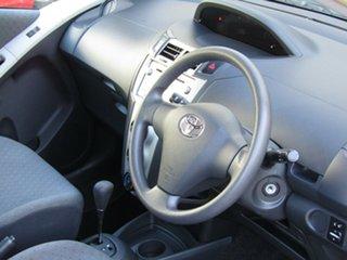 2010 Toyota Yaris NCP90R MY10 YR Alfa White 4 Speed Automatic Hatchback
