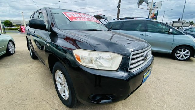 Used Toyota Kluger GSU45R KX-R AWD Maidstone, 2008 Toyota Kluger GSU45R KX-R AWD Black 5 Speed Sports Automatic Wagon