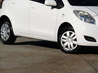 2010 Toyota Yaris NCP90R MY10 YR Alfa White 4 Speed Automatic Hatchback.