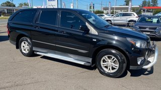 2013 Ssangyong Actyon Sports Q150 MY12 Tradie Black 6 Speed Sports Automatic Utility.