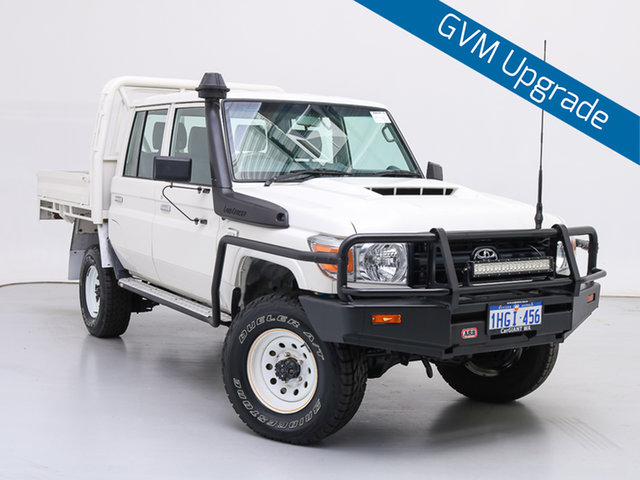 Used Toyota Landcruiser VDJ79R MY18 Workmate (4x4), 2017 Toyota Landcruiser VDJ79R MY18 Workmate (4x4) White 5 Speed Manual Double Cab Chassis
