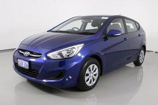 2016 Hyundai Accent RB3 MY16 Active Blue 6 Speed CVT Auto Sequential Hatchback.