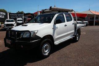 2014 Toyota Hilux KUN26R MY14 SR Double Cab Glacier White 5 Speed Manual Utility.