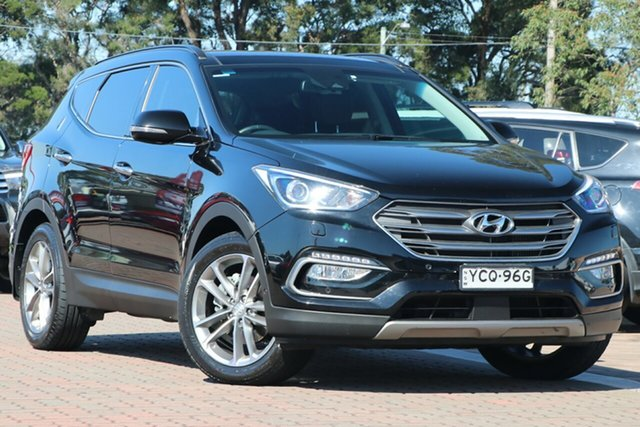 Pre-Owned Hyundai Santa Fe DM3 MY17 Highlander Warwick Farm, 2016 Hyundai Santa Fe DM3 MY17 Highlander Black 6 Speed Sports Automatic SUV