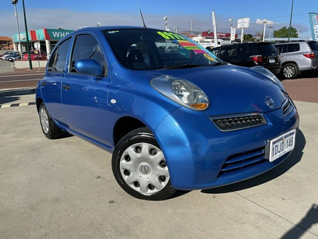 Used Nissan Micra K12 Victoria Park, 2010 Nissan Micra K12 Blue 4 Speed Automatic Hatchback