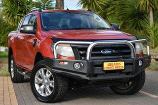 2013 Ford Ranger PX Wildtrak Double Cab Orange 6 Speed Sports Automatic Utility.