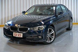2016 BMW 3 Series F30 LCI 318i Sport Line Blue 8 Speed Sports Automatic Sedan.