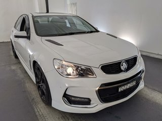 2016 Holden Commodore VF II MY16 SS V Redline White 6 Speed Manual Sedan.