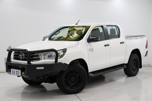 Used Toyota Hilux GUN126R SR Double Cab Brooklyn, 2017 Toyota Hilux GUN126R SR Double Cab White 6 Speed Sports Automatic Utility
