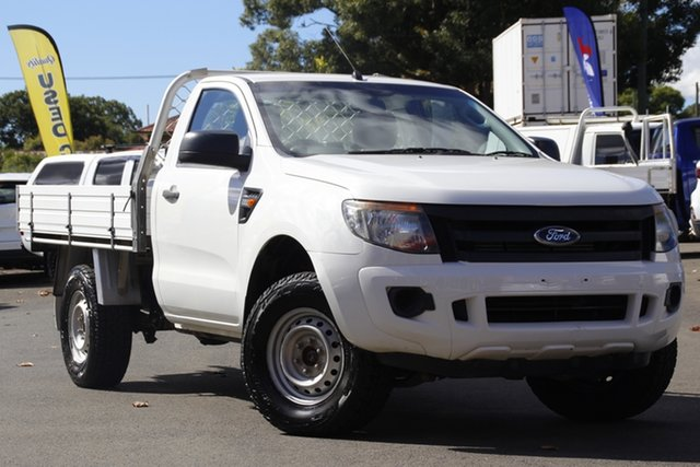 Used Ford Ranger PX XL Toowoomba, 2014 Ford Ranger PX XL White 6 Speed Manual Cab Chassis