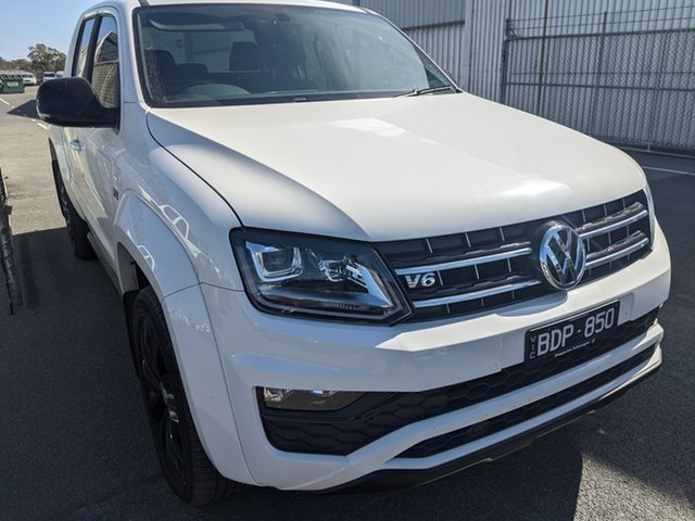 Used Volkswagen Amarok 2H MY19 TDI580 4MOTION Perm Highline Black Epsom, 2019 Volkswagen Amarok 2H MY19 TDI580 4MOTION Perm Highline Black Candy White 8 Speed Automatic